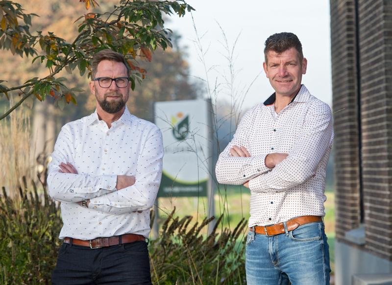 De eigenaren van Luijendijk Hoveniers: Robert Wijnhoven en Marcel Blom